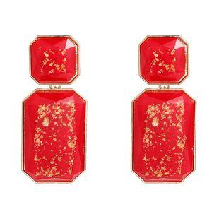 Womens Geometric Acetate Sheet Earrings NHJE122776's discount tags