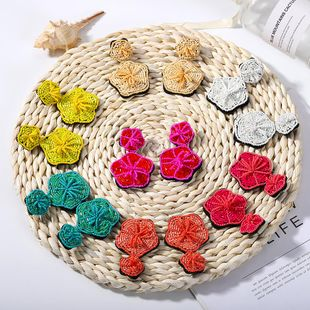Womens Geometric Beads Earrings NHJQ122778's discount tags
