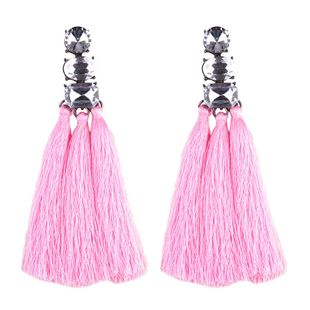Womens Geometric Gemstone Alloy tassel Earrings NHJQ122782's discount tags