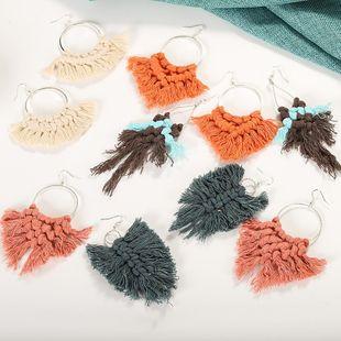 Womens Fashion tassel Fringe Lines Earrings NHJQ122784's discount tags