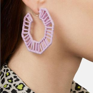Womens Geometric Weave hexagon Earrings NHJQ122787's discount tags