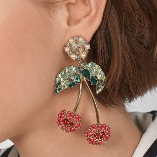 Womens Fruit Paint Alloy Earrings NHJQ122788's discount tags