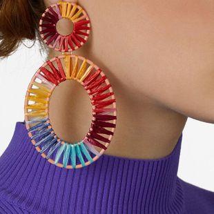 Womens Geometric Weaving Earrings NHJQ122789's discount tags
