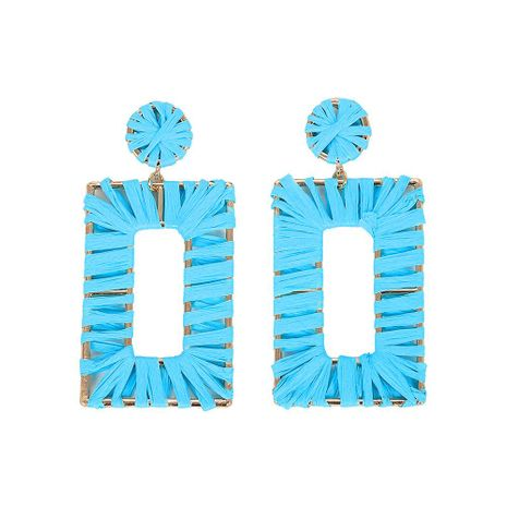 Womens Geometric Braided rectangle Earrings NHJQ122791's discount tags