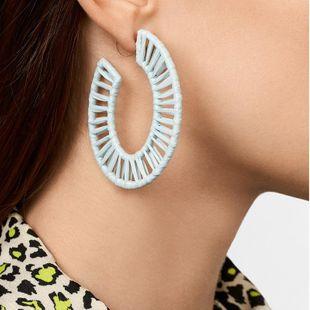 Womens Geometric Weaving Earrings NHJQ122792's discount tags