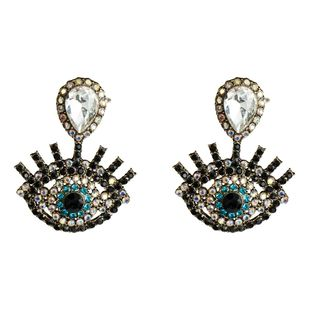 Womens Eye Rhinestone Acrylic Earrings NHJE122794's discount tags
