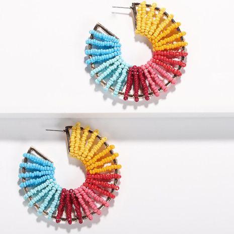 Womens Geometric Creative handmade rice beads  Earrings NHJQ122797's discount tags
