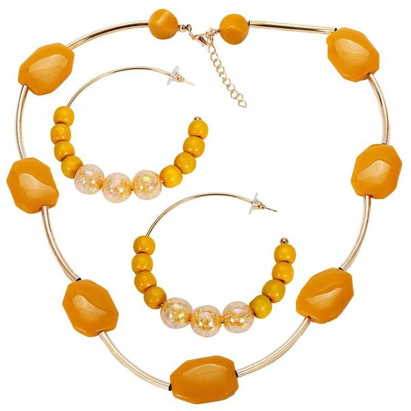 Womens Electroplated Alloy Jewelry Sets NHJQ122819