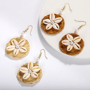 Womens Geometric hand made Shell Earrings NHJQ122824's discount tags