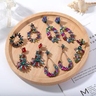 Womens Geometric Hollow Rhinestone Earrings NHJQ122826's discount tags