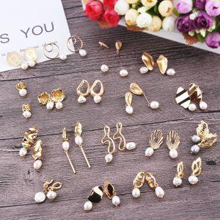 Womens Geometric Painted Metal Earrings NHJQ122827's discount tags