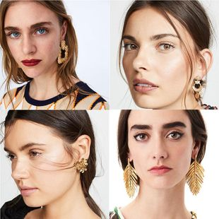Womens Geometric Paint Alloy Earrings NHJQ122828's discount tags
