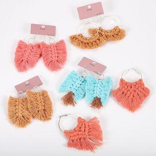 Womens Geometric tassel Cloth Earrings NHJQ122832's discount tags