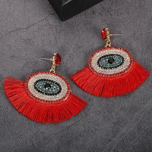 Womens Geometric Paint  tassel Alloy Earrings NHJQ122835's discount tags