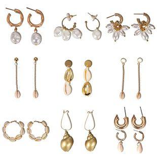 Womens Beads Shell Beads Seashell Earrings NHJQ122834's discount tags