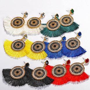 Womens Geometric Paint tassel Alloy Earrings NHJQ122836's discount tags