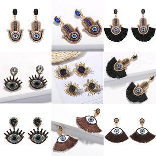 Womens Eyes Beads Alloy tassel Line Earrings NHJQ122838's discount tags