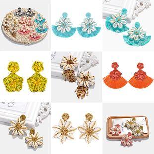 Womens Geometric Beads Earrings NHJQ122840's discount tags