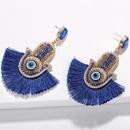 Womens Fashion rhinestone small eyes tassel Geometric Earrings NHJQ122692