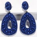 Womens Retro tassel teardropshaped Earrings NHJQ122777