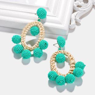 Womens Geometric Plastic Weaving Resin Earrings NHJQ122892's discount tags