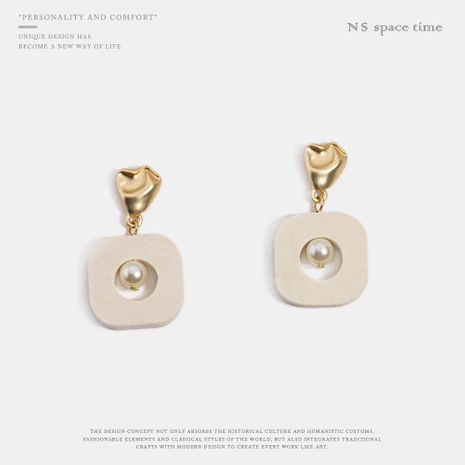 Womens Geometry Electroplating Alloy Earrings NHQS122900's discount tags