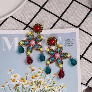 Womens Constellation tassel Rhinestone Alloy Earrings NHJJ122939's discount tags