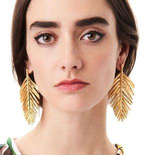 Womens Rhinestone fish bones Electroplating Alloy Earrings NHJQ122972's discount tags