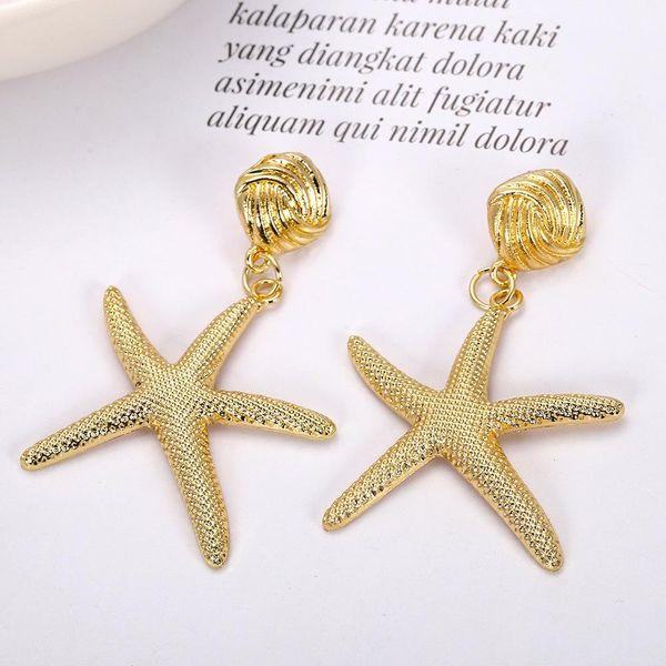 Womens Star Paint Alloy Earrings NHJQ122973