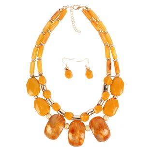 Womens Geometric Plastic  Resin Necklaces NHCT122975's discount tags
