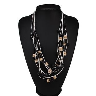 Womens Geometric Plastic  Resin Necklaces NHJQ122977's discount tags
