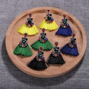 Womens Fringe Large gemstones with rhinestones Jewels Earrings NHJQ122987's discount tags