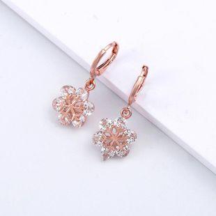 Fashion personality snowflake geometric zircon ocesrio Earrings NHAS122993's discount tags