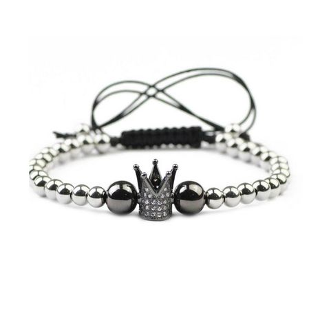 Fashion Unisex Crown Copper bead weaving Bracelet NHYL122996's discount tags