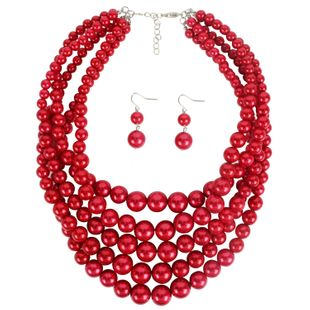 Womens Fashion U-shaped beads Necklaces NHCT122998's discount tags