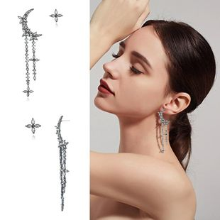 Womens Star Plating  tassel Alloy Earrings NHKQ123004's discount tags