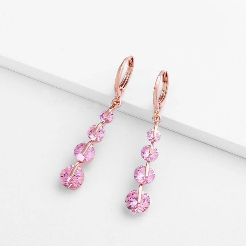 Womens teardrop shaped zircon ocesrio Earrings NHAS123010