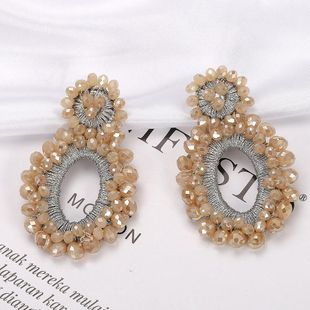 Womens Geometric Fashion woven rice beads Plastic / Resin Earrings NHJQ123011's discount tags