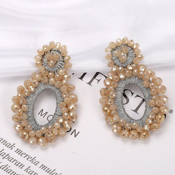 Womens Geometric Fashion woven rice beads Plastic / Resin Earrings NHJQ123011