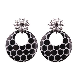 Womens Geometric Color multi-drill Acrylic Earrings NHJQ123023's discount tags