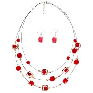 Womens Rhinestone Beads Street Shoot Necklaces NHCT123027's discount tags