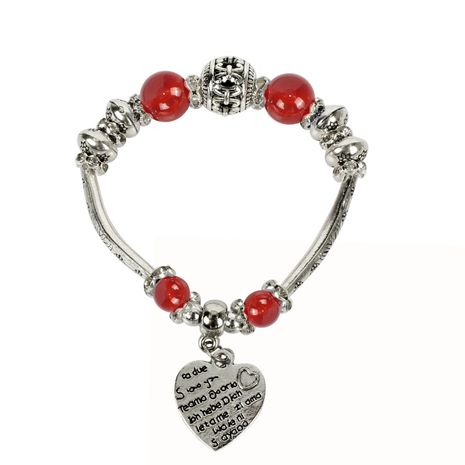 Womens Heart-Shaped Beads Bracelet NHCT123030's discount tags