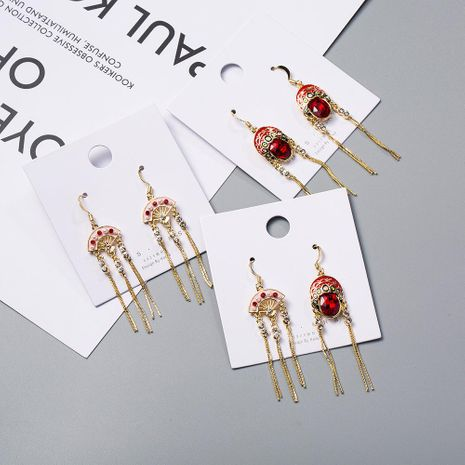 Womens Cartoon Characters Studded Alloy Chinese Style Earrings NHWF123032's discount tags