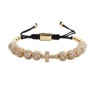 Fashion Unisex Cross Copper Bracelet NHYL123033's discount tags