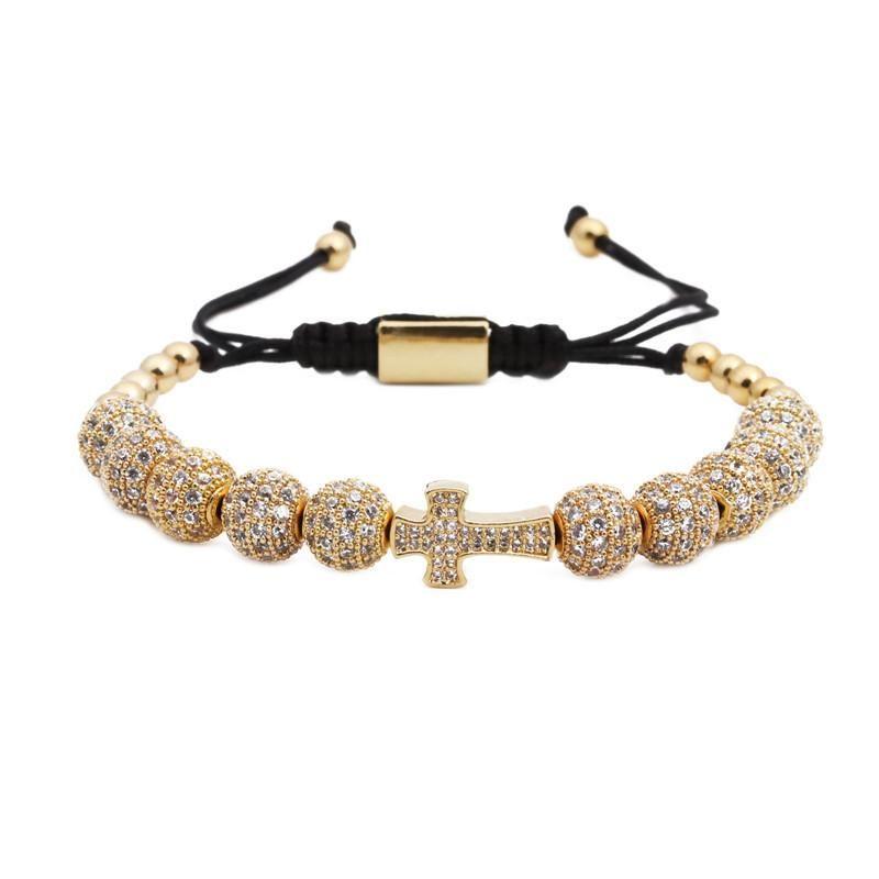 Fashion Unisex Cross Copper Bracelet NHYL123033