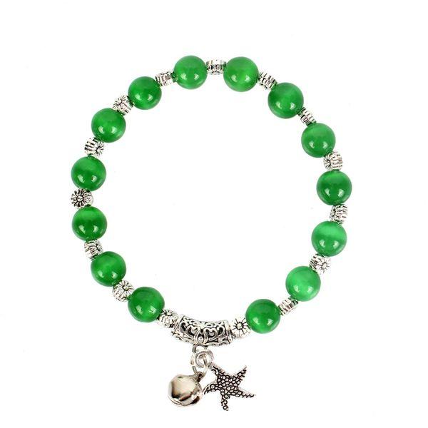 Womens Round Handmade Agate Bracelet NHCT123034