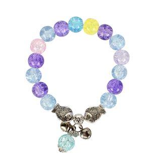 Womens Round Handmade Glass Bracelet NHCT123035's discount tags