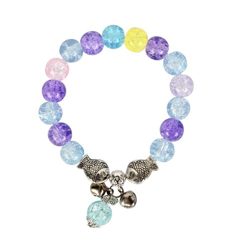 Womens Round Handmade Glass Bracelet NHCT123035's discount tags