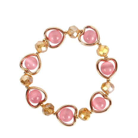 Womens Heart-Shaped Handmade Agate Bracelet NHCT123037's discount tags