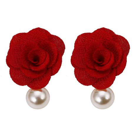 Womens Floral Inlay Beads Rhinestone-studded rose Earrings NHJQ123040's discount tags